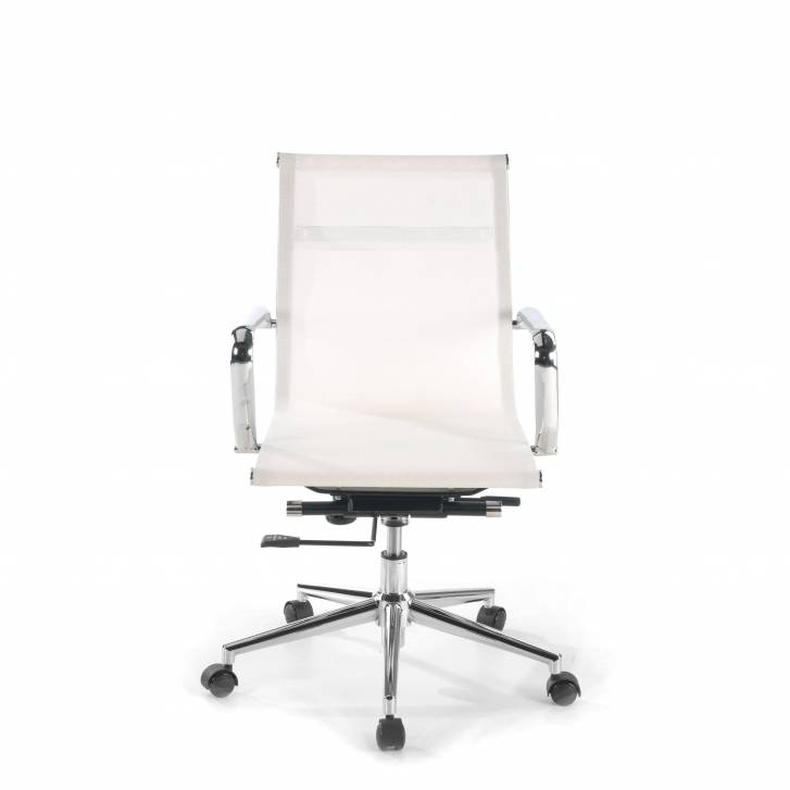 Slim Armchair Mesh Low White