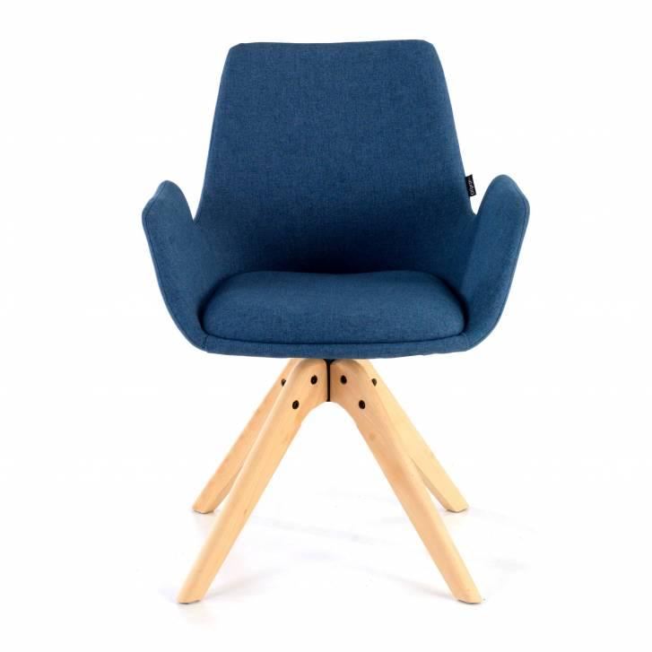 Elodie Chair wood Seat blue