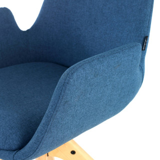 Elodie Chair wood Seat blue