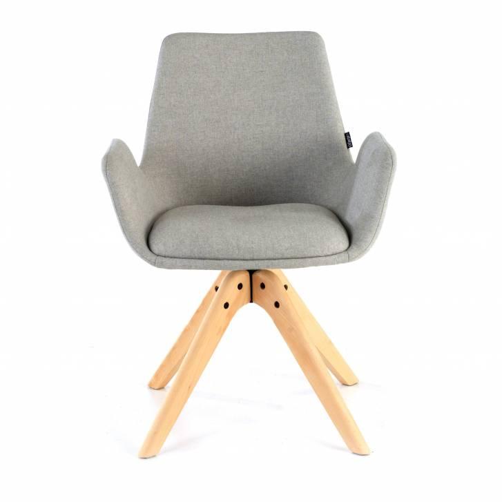 Elodie Chair wood Seat grey