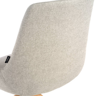 Elodie Chair wood Seat grey