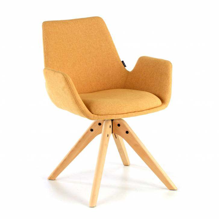 Elodie Chair wood Seat yellow
