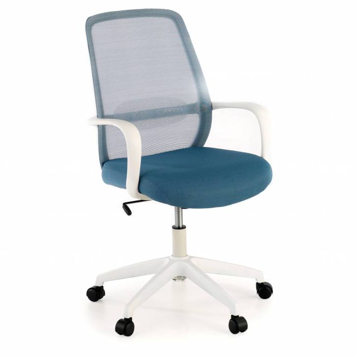 Point white Stuhl blau