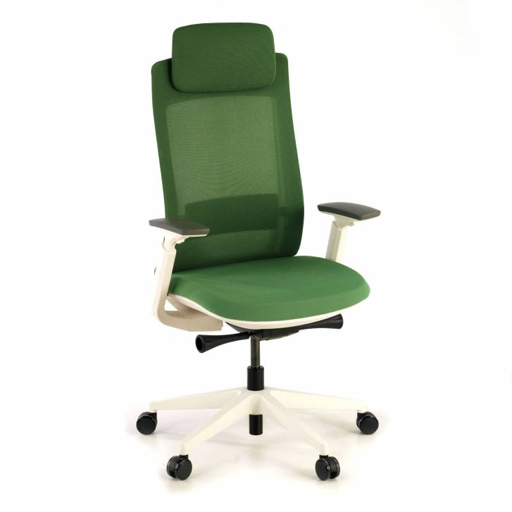 Gesture chair white green