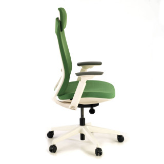 Gesture chair white green