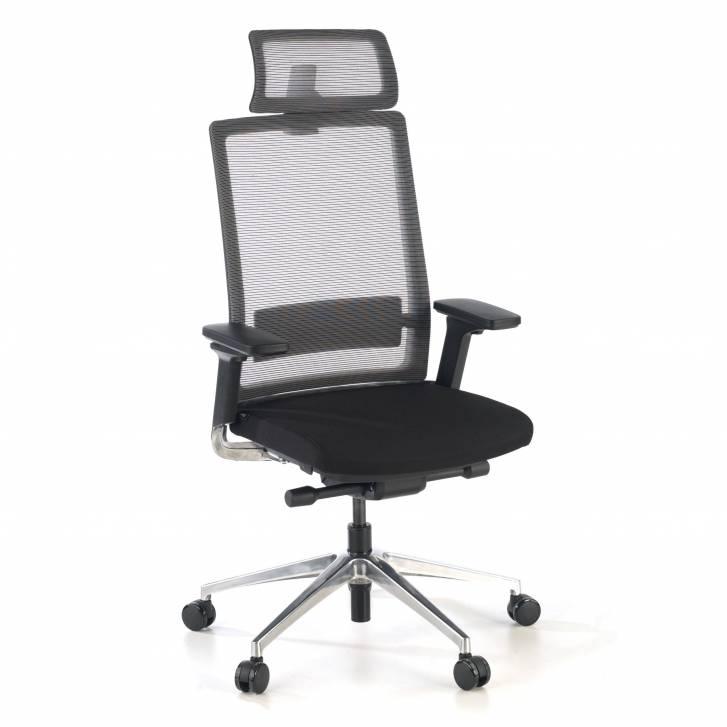 Physix chair with headrest black