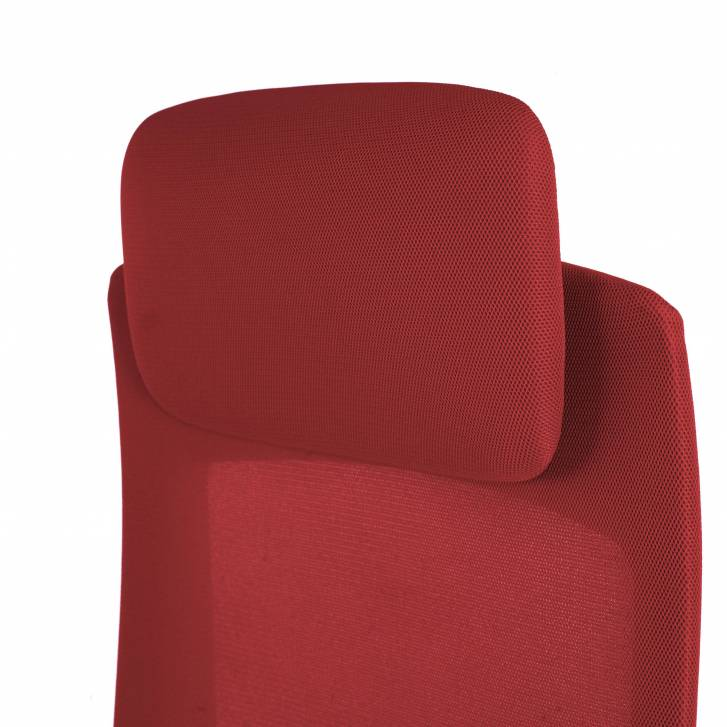 Gesture chair white red