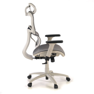 Ergocity white chair grey