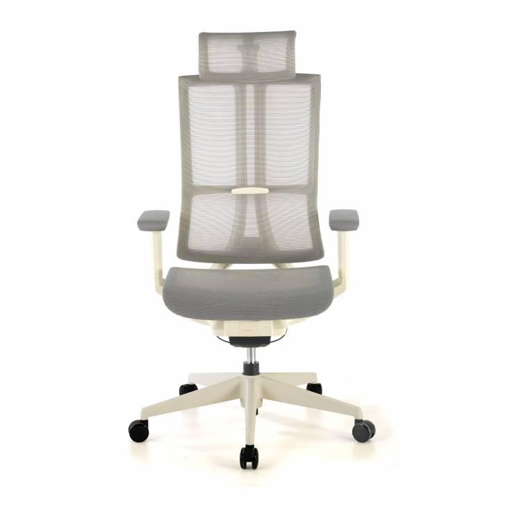 Ghost white Chair Mesh grey