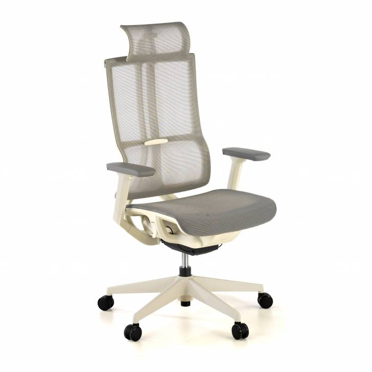 Ghost white Chair Mesh grey