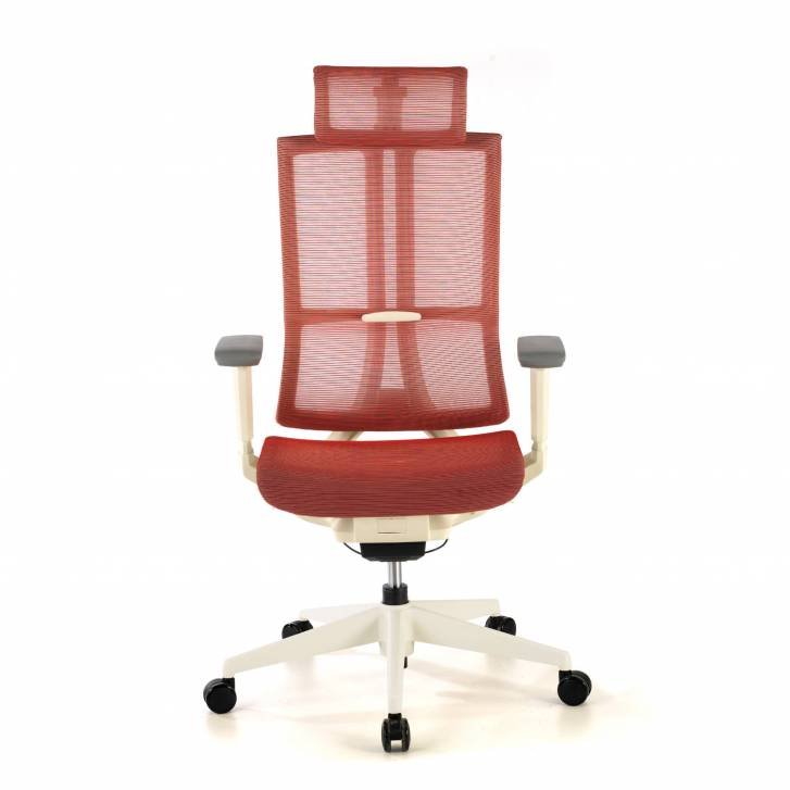 Ghost white Chair Mesh red