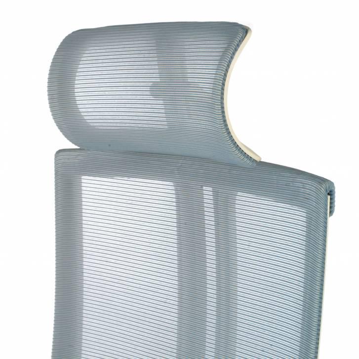 Ghost white Chair Mesh blue