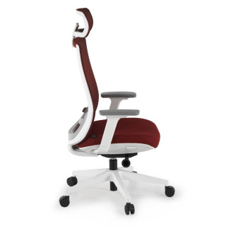 Silla Boston white red roja