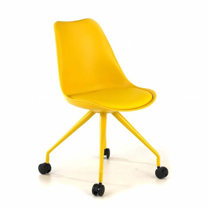 Nordic desk chair yellow