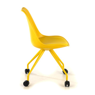 Nordic desk chair yellow