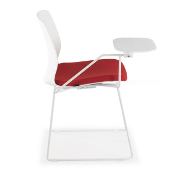 Nexus Kufenstuhl mit Pult, rot