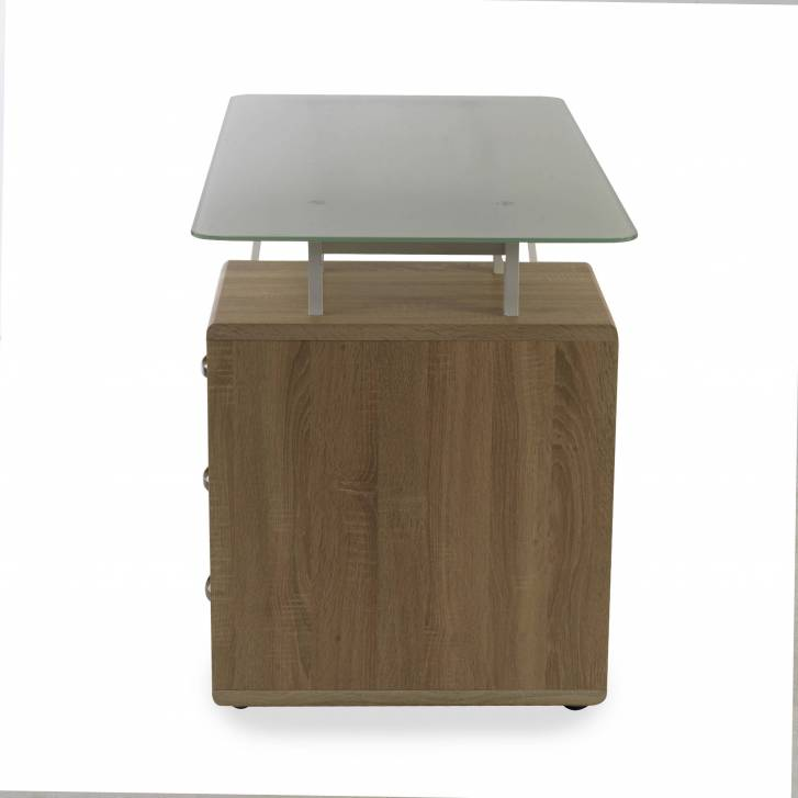Bloomer desk with drawer unit