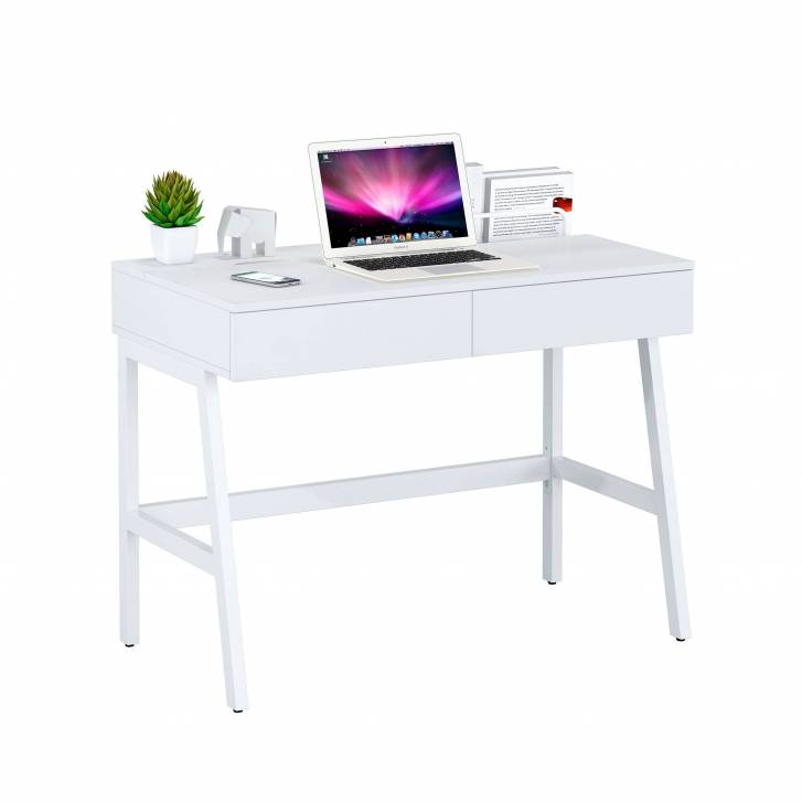 Gloss desk with drawers