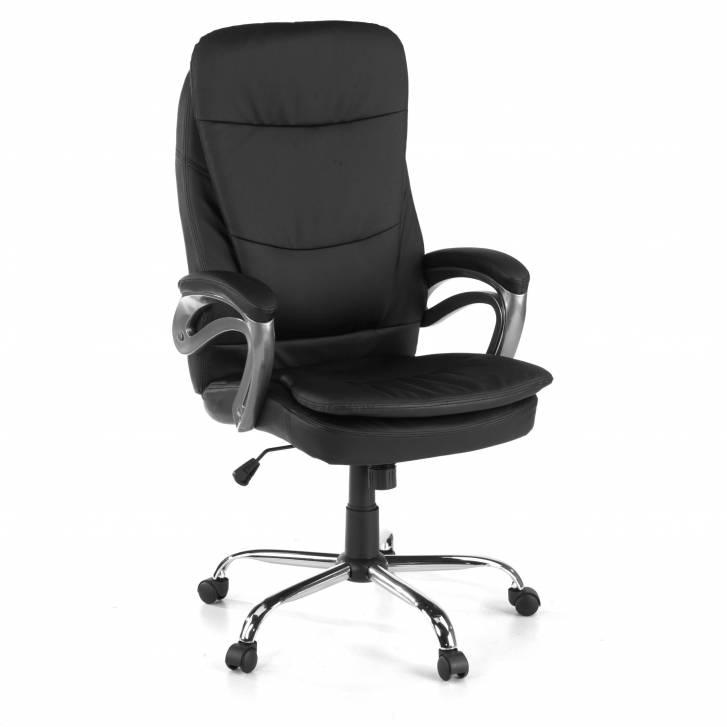 Chair Coimbra leatherette Black