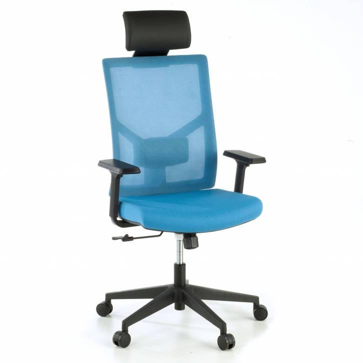 Verdi Chair with headrest blue