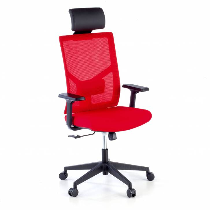 Verdi Chair with headrest red