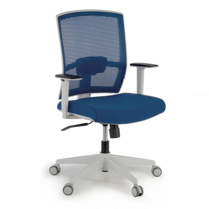 Kendo white Chair blue mesh