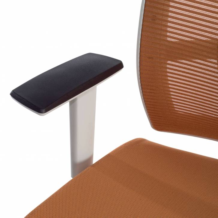 Kendo white Chair orange mesh