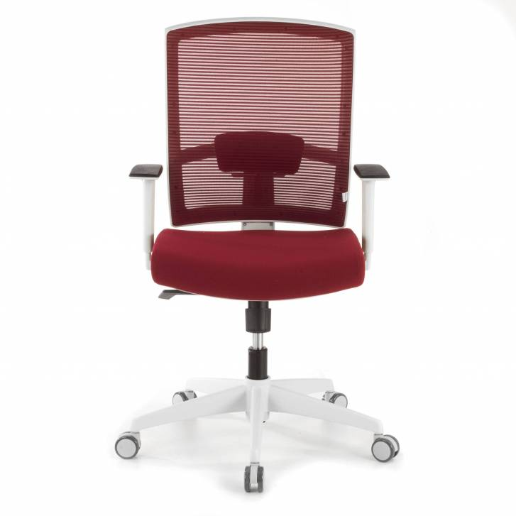 Kendo white Chair red mesh