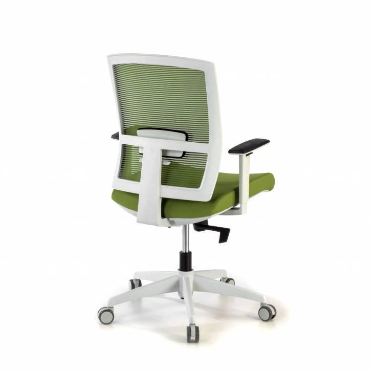 Kendo white Chair green mesh