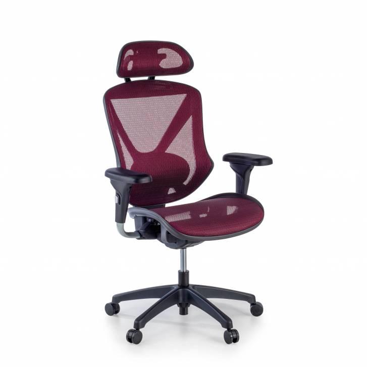 Munich chair red mesh